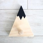 Kids Coat Hook Mountain SINGLE WOODEN