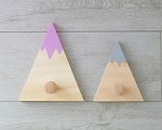 Kids Coat Hook Mountain WOODEN SET