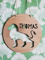 Lion Personalised Bamboo Name Sign