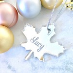 Maple Leaf Personalised Christmas Ornament Decoration
