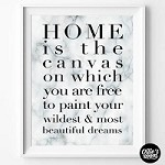 Print - Home is The Canvas