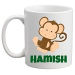 Personalised Kids Mug/Cup - Monkey