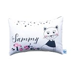 Monochromatic Kitty Personalised Custom Cushion