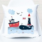 Nautical Boats Personalised Custom Cushion