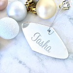 SALE - TASHA Oval Christmas Ornament