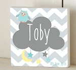 Owl Dream Cloud Personalised Wooden Name Plaque
