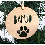 Dog/Cat/ Pet Paw Personalised Christmas Ornament