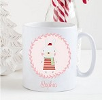 Personalised Kids Mug  -Christmas Woodland Bunny