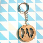 Wooden DAD Father's Day Key Ring
