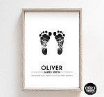 Personalised Foot Print Birth Print