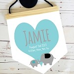 Personalised Birth Print Pendant - Feathers
