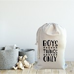 Personalised Drawstring Storage Sack - Boys Things Only