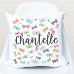 Fluttering Butterflies Personalised Custom Cushion