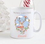 Personalised Kids Mug  - Merry Christmas Reindeer