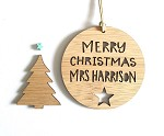 Thank you Teacher Personalised Christmas Ornament  Star