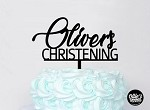 Personalised Name Baptism Cake Topper