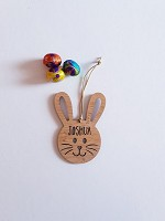 Personalised Easter Bunny Face Tags