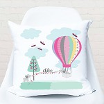 Elephant Hot Air Balloon Personalised Custom Cushion