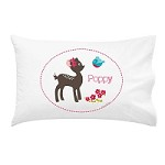 Girls Fawn Personalised Pillow Case