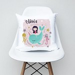 Unicorn Whale Girls Personalised Custom Cushion