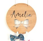 Bow Personalised Bow Hair Clip Holder