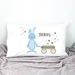 Baby Bunnies Boys Personalised Pillow Case