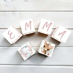 Personalised Name Wooden Blocks - Pink Jungle