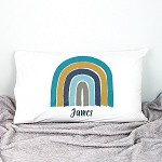 Blue Rainbow Personalised Pillow Case