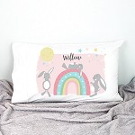 Personalised Rainbow Bunny Pillowcase