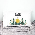 Personalised Stay Wild Pillow Case