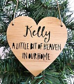 Heart Remembrance Personalised Christmas Ornament