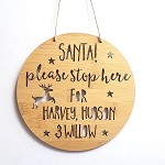 Personalised Santa Please Stop Here Christmas Countdown Sign