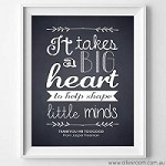 Print - Big Heart Design  NO CUSTOM DESIGN (black and white)