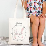 Personalised Bunny Design TOTE Bag