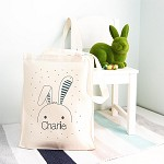 Personalised Floppy Bunny Easter Design TOTE Bag