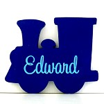 Personalised Engraved Wooden Shape -Train