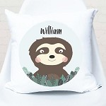 Sloth Personalised Cushion