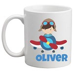 Personalised Kids Mug/Cup - Plane