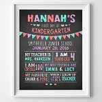 First Day of Kindergarten/School Poster Print  Girl Bunting
