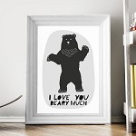 Print - I Love You Beary Much