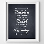 Print - Teachers who love teaching Black and white