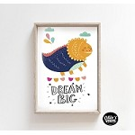 INSTANT DOWNLOAD Dream Big Dinosaur Poster Print