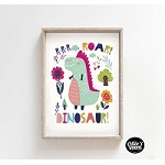 INSTANT DOWNLOAD Dinosaur ROAR Poster Print