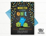 Monster Birthday Invitation - Our Little Monster