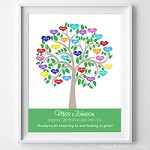 Print - Teacher Tree Rainbow