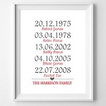 PRINT YOURSELF Personalised Family Timeline Print