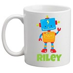 Personalised Kids Mug/Cup - Robot