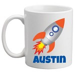 Personalised Kids Mug/Cup - Rocket