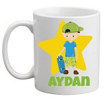 Personalised Kids Mug/Cup - Skater Boy