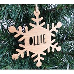 Snowflake Round Star Personalised Christmas Ornament